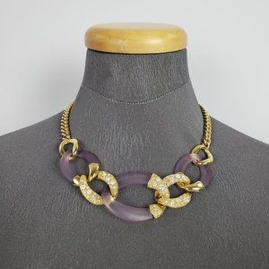 Color By Amber Gold & Purple Necklace Set